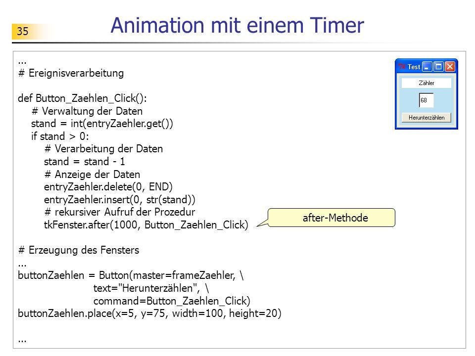Animation mit einem Timer