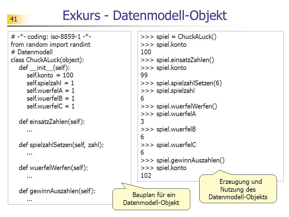 Exkurs - Datenmodell-Objekt