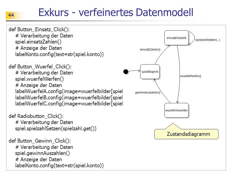 Exkurs - verfeinertes Datenmodell