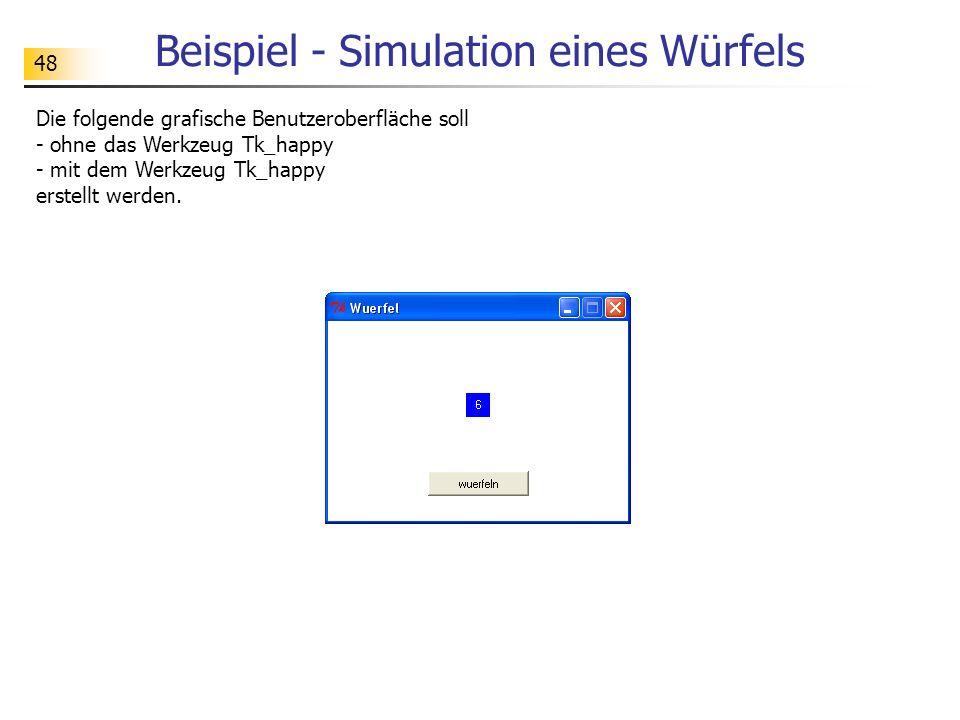 Beispiel - Simulation eines Würfels