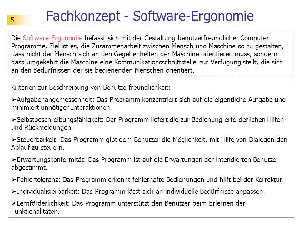 Fachkonzept - Software-Ergonomie
