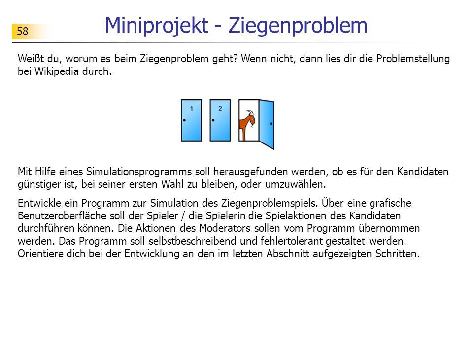 Miniprojekt - Ziegenproblem