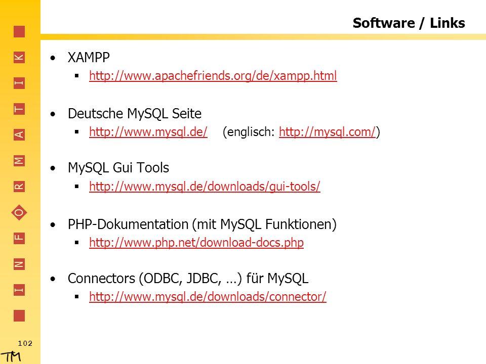 PHP-Dokumentation (mit MySQL Funktionen)