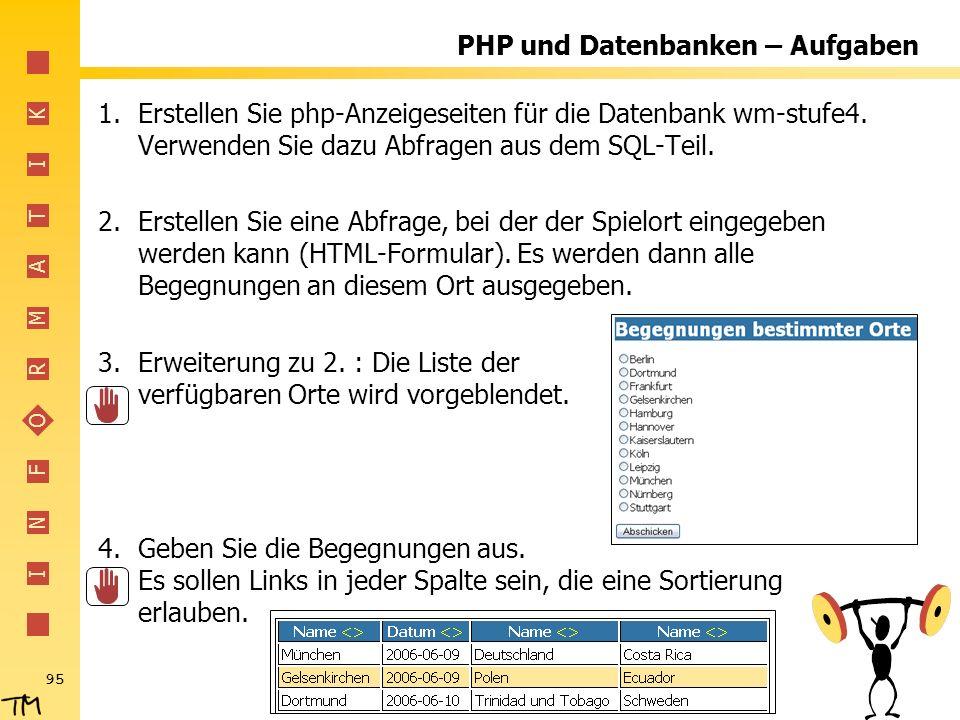 PHP und Datenbanken – Aufgaben