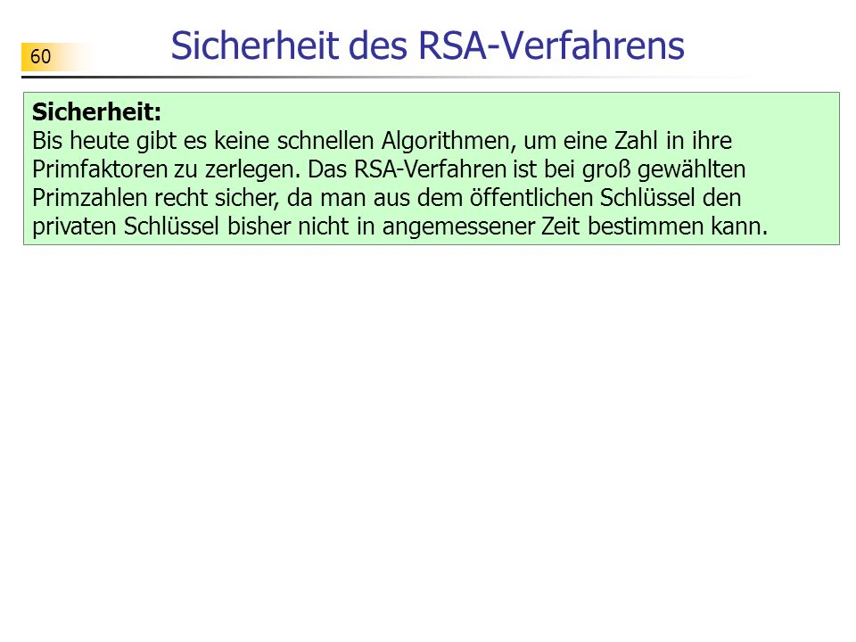 Sicherheit des RSA-Verfahrens
