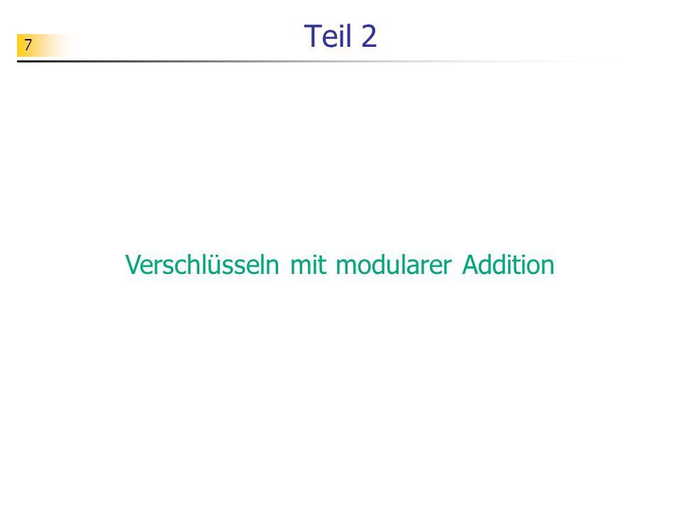 Verschlüsseln mit modularer Addition