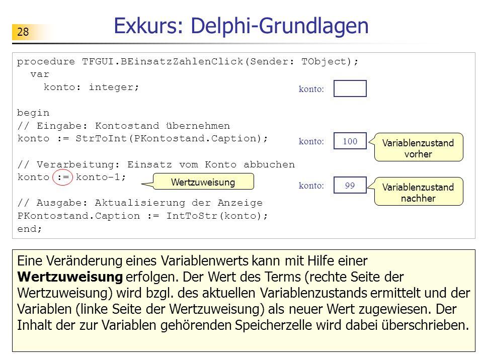 Exkurs: Delphi-Grundlagen