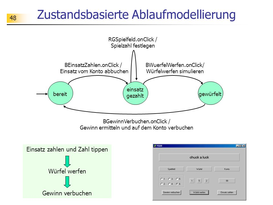 Zustandsbasierte Ablaufmodellierung