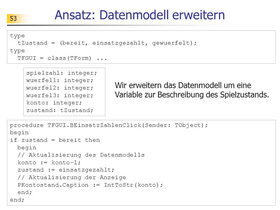 Ansatz: Datenmodell erweitern