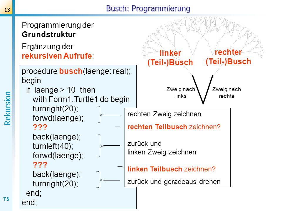 Busch: Programmierung