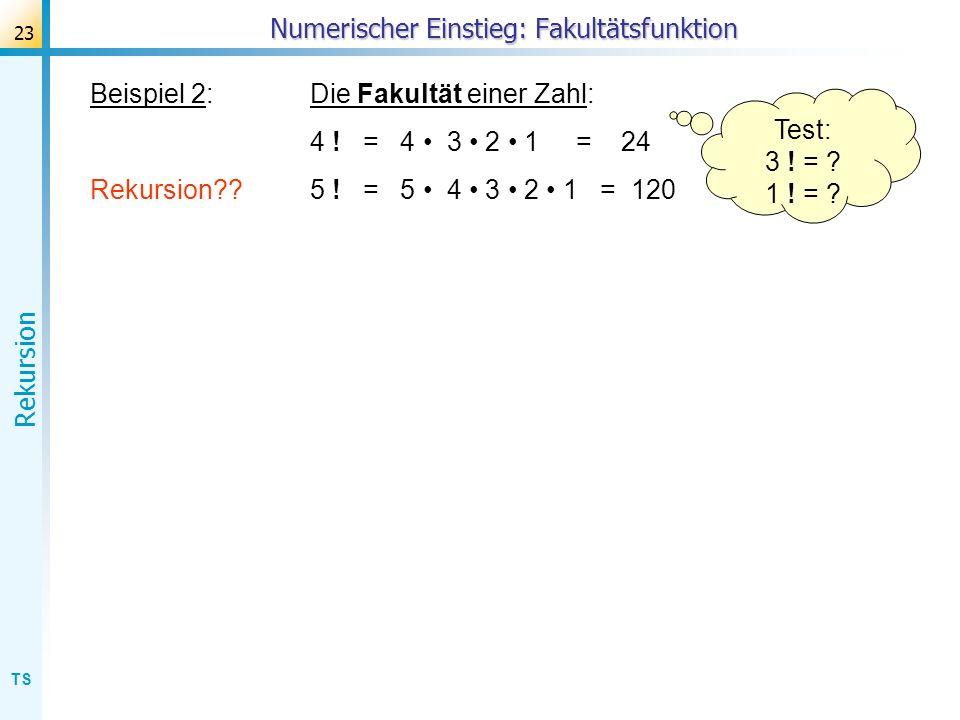 Numerischer Einstieg: Fakultätsfunktion