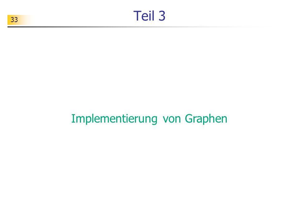 Implementierung von Graphen