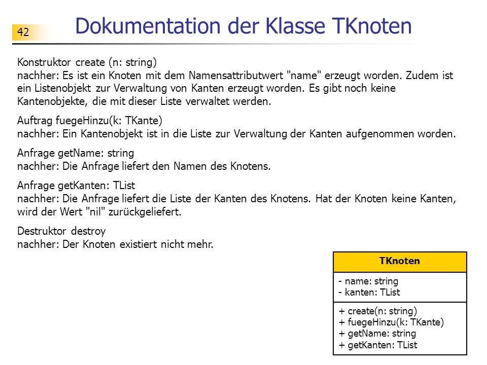 Dokumentation der Klasse TKnoten