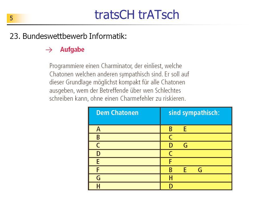 tratsCH trATsch 23. Bundeswettbewerb Informatik: