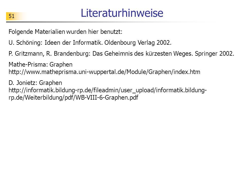 Literaturhinweise Folgende Materialien wurden hier benutzt: