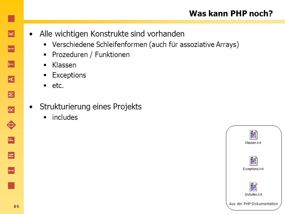 Aus der PHP-Dokumentation