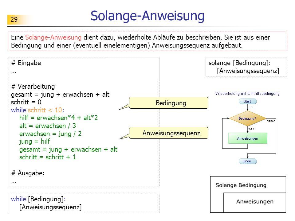 Solange-Anweisung