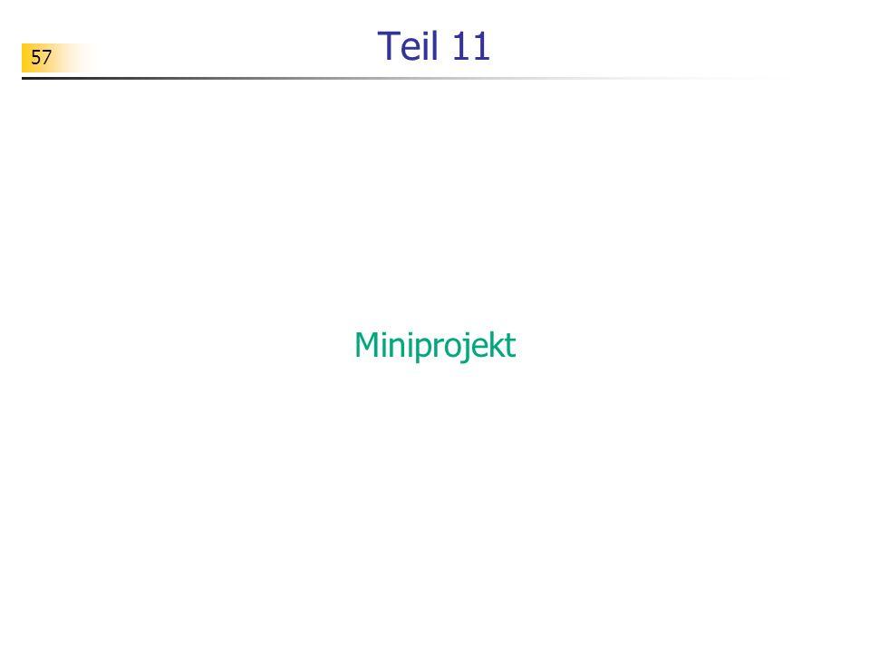 Teil 11 Miniprojekt