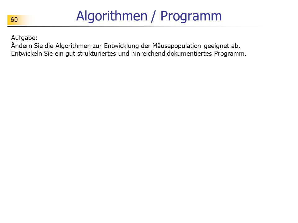 Algorithmen / Programm