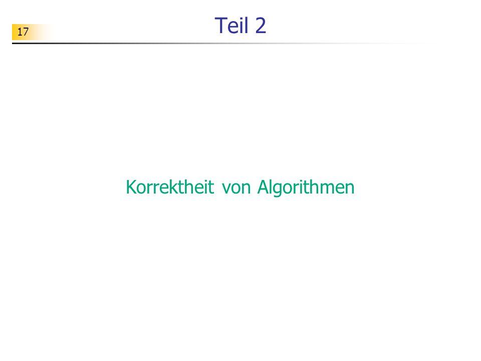 Korrektheit von Algorithmen