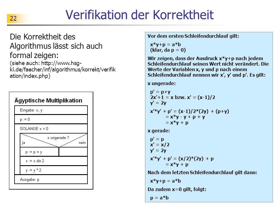 Verifikation der Korrektheit