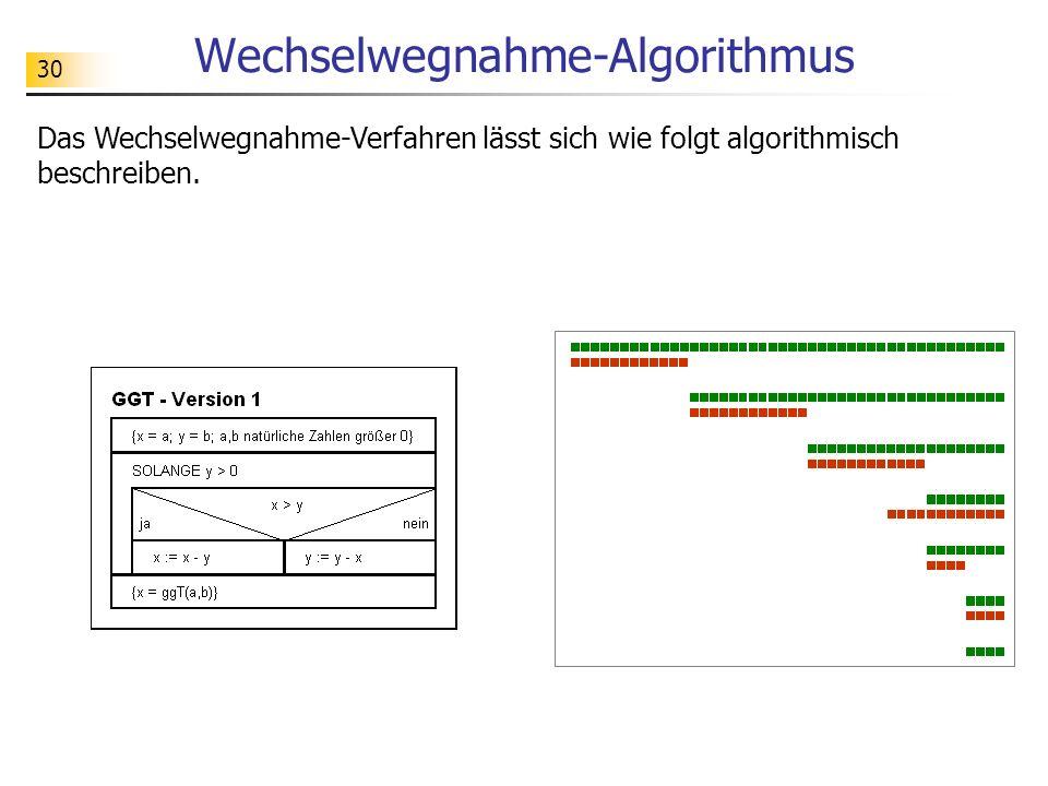 Wechselwegnahme-Algorithmus