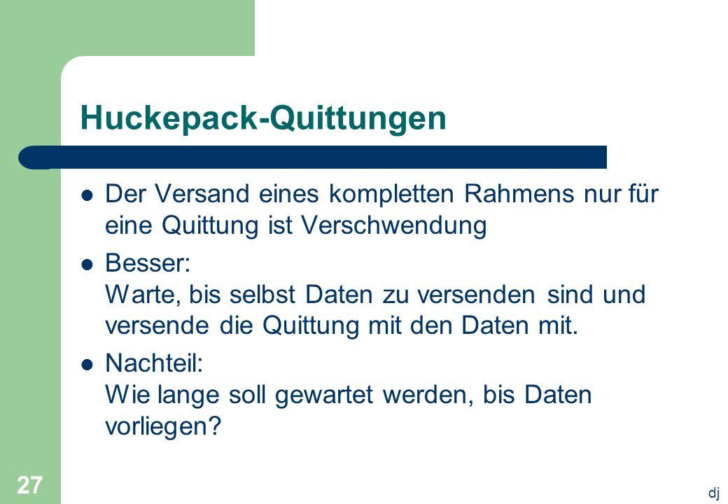 Huckepack-Quittungen