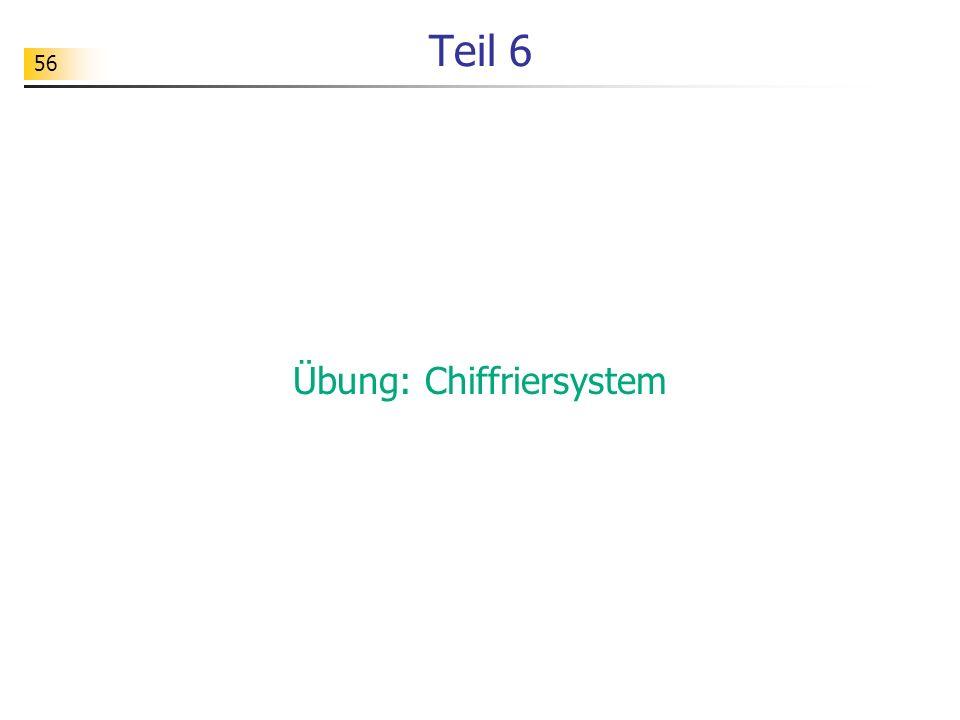 Übung: Chiffriersystem