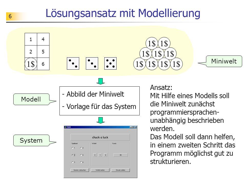 Lösungsansatz mit Modellierung
