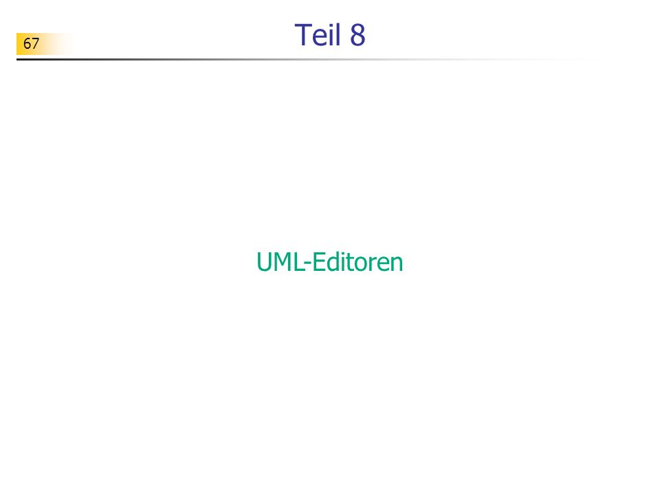 Teil 8 UML-Editoren