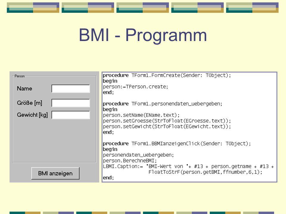 BMI - Programm