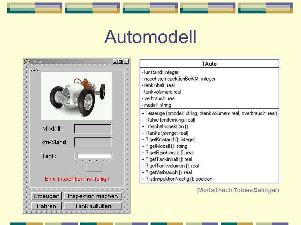 Automodell (Modell nach Tobias Selinger)