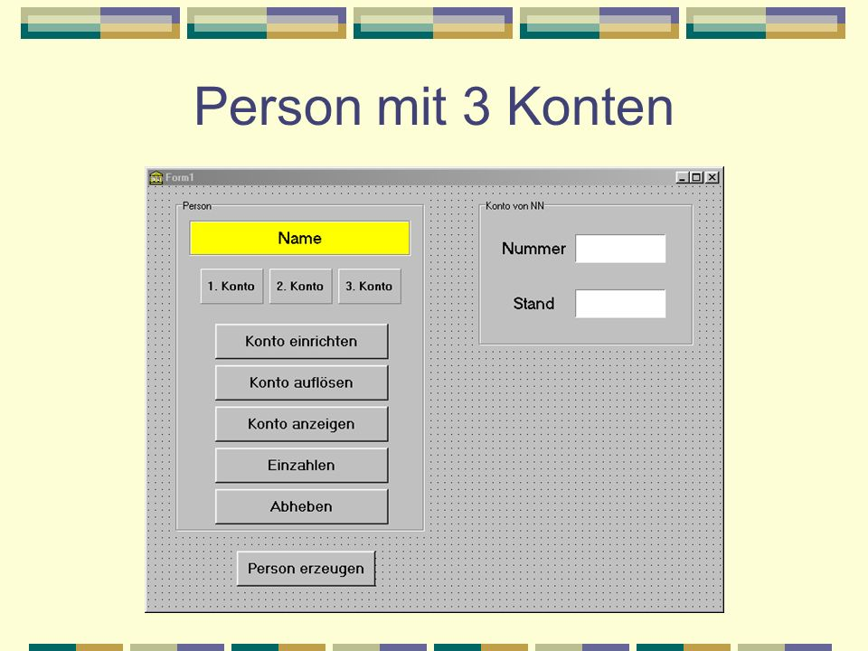 Person mit 3 Konten