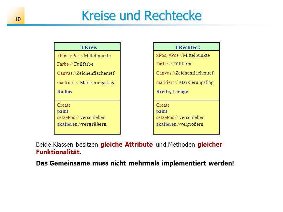 Kreise und Rechtecke 10. TKreis. xPos, yPos //Mittelpunkte. Farbe // Füllfarbe. Canvas //Zeichenflächenref.