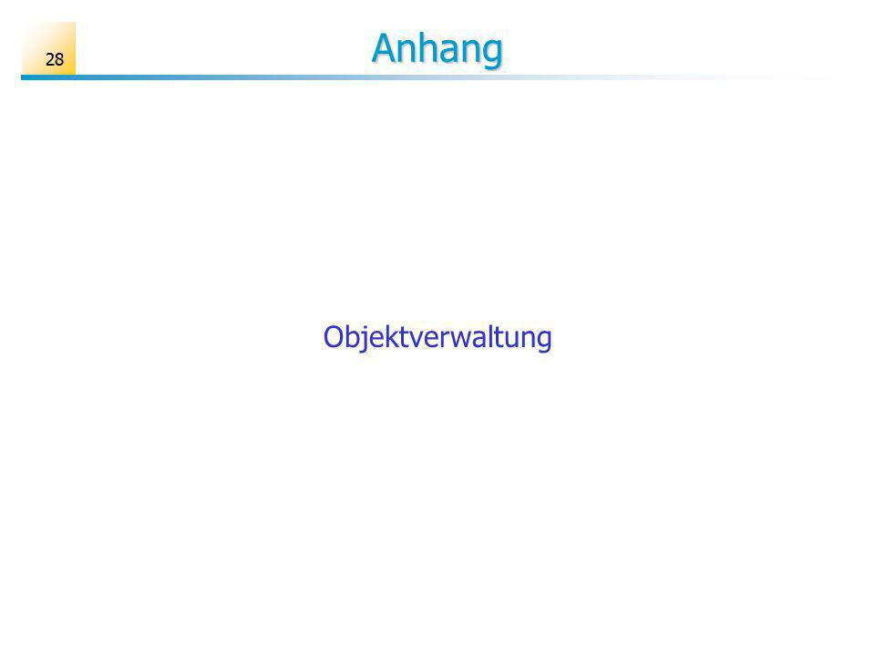 Anhang 28 Objektverwaltung