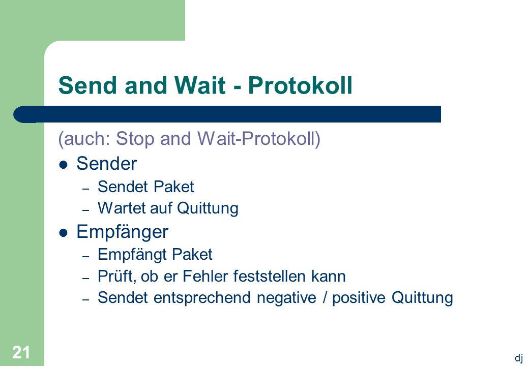 Send and Wait - Protokoll