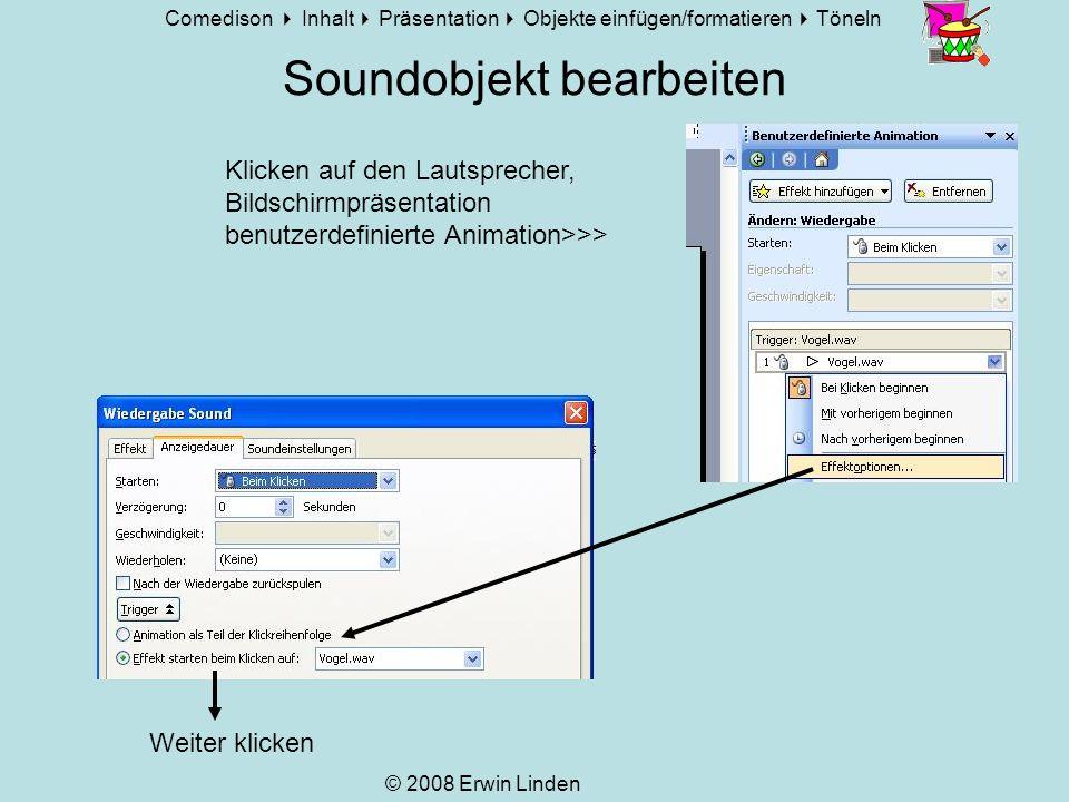 Soundobjekt bearbeiten