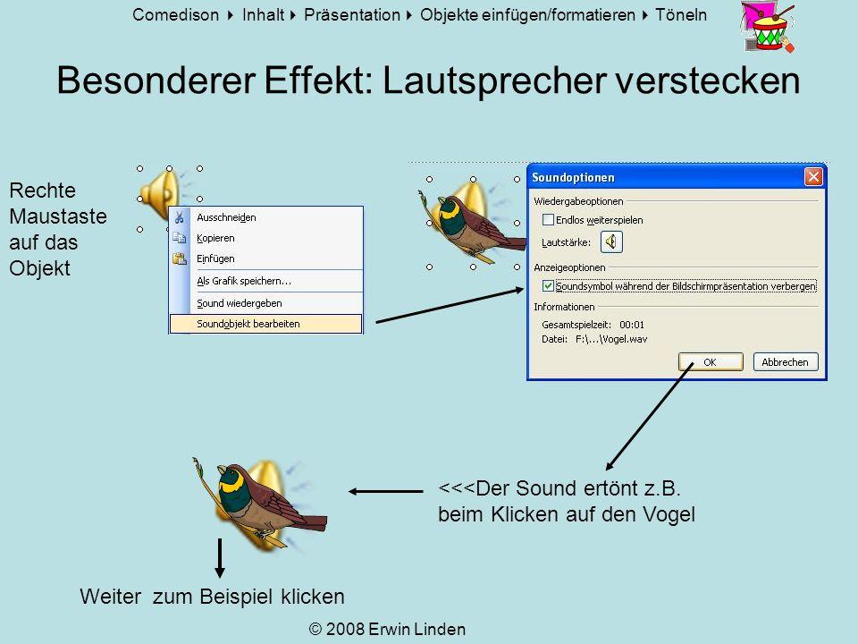 Besonderer Effekt: Lautsprecher verstecken