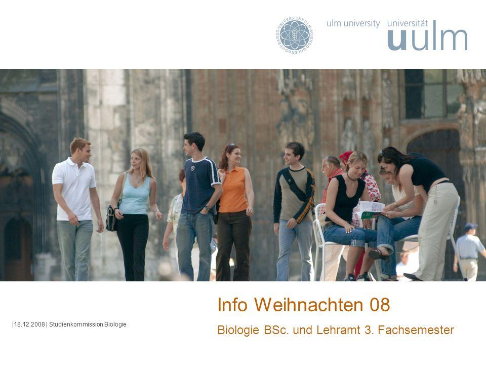 Info Weihnachten 08 Biologie BSc. und Lehramt 3. Fachsemester