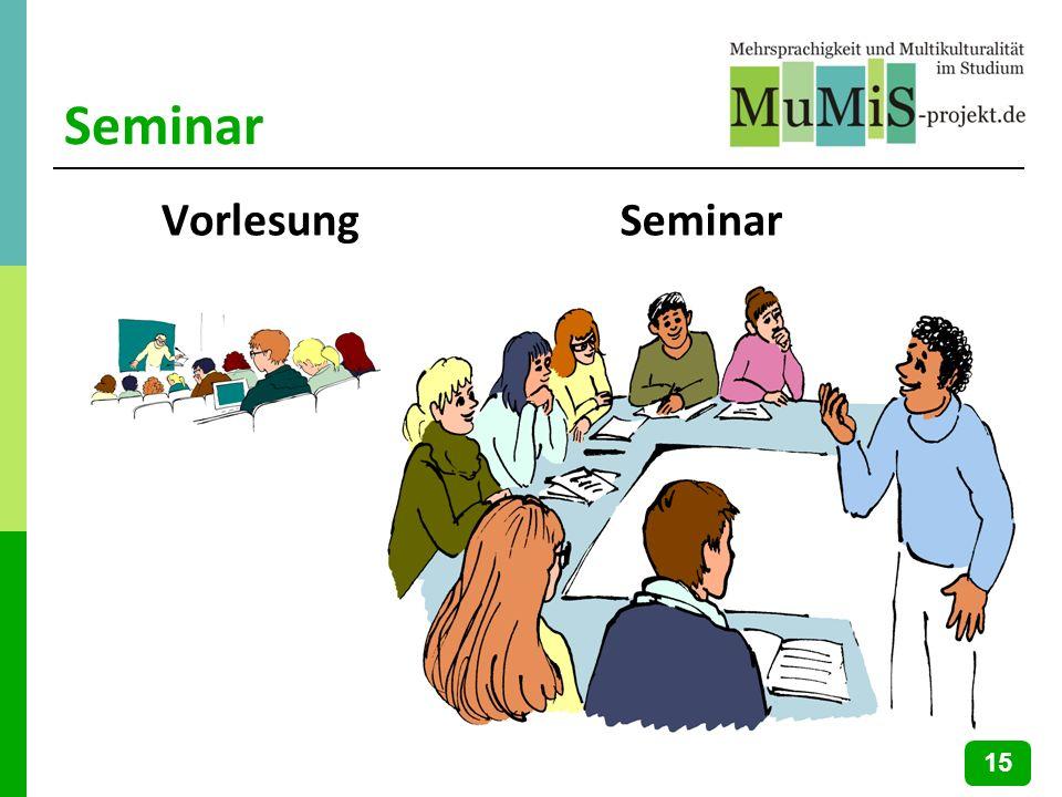 Seminar Vorlesung Seminar 15