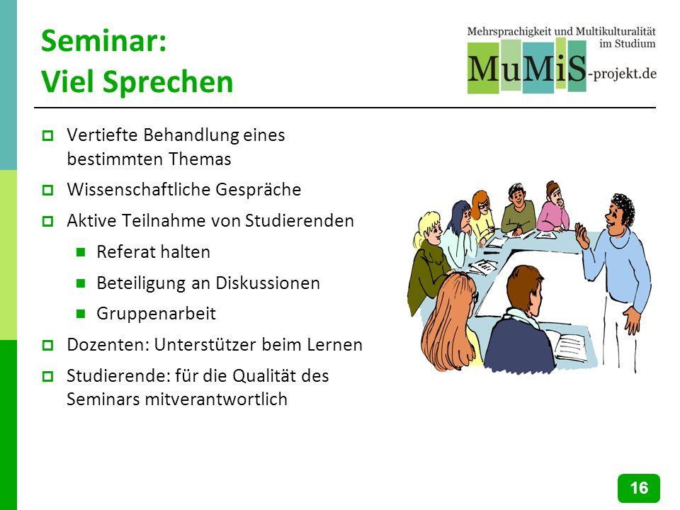 Seminar: Viel Sprechen