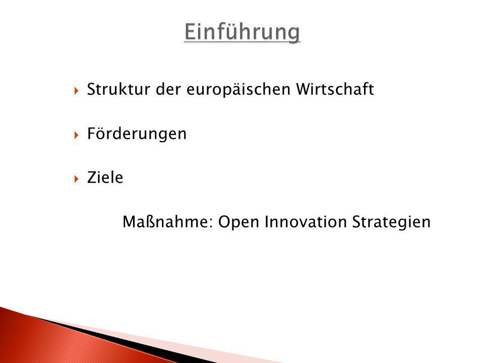 Einführung Struktur der europäischen Wirtschaft Förderungen Ziele