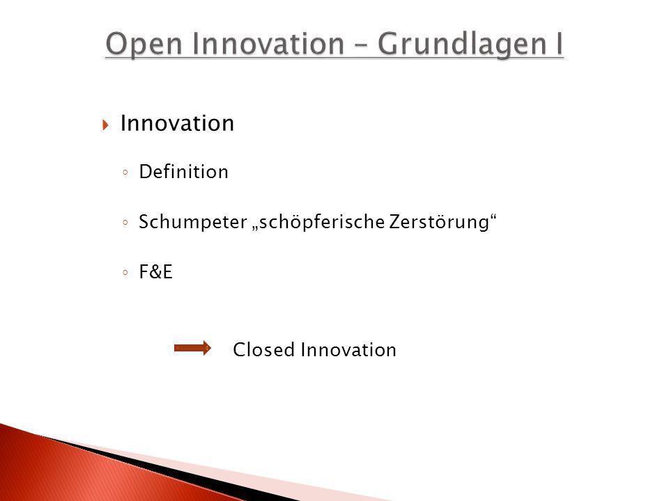 Open Innovation – Grundlagen I