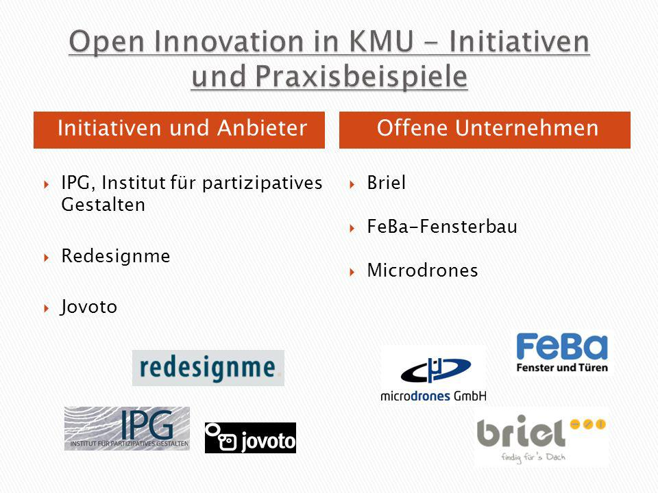 Open Innovation in KMU - Initiativen und Praxisbeispiele