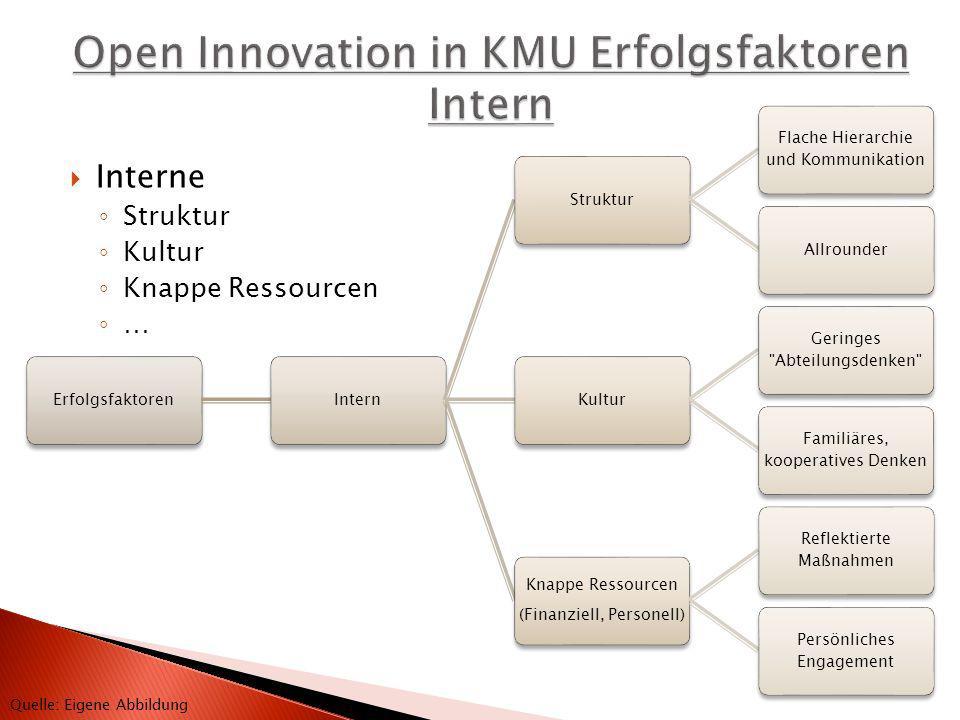 Open Innovation in KMU Erfolgsfaktoren Intern