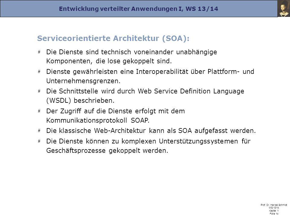 Serviceorientierte Architektur (SOA):