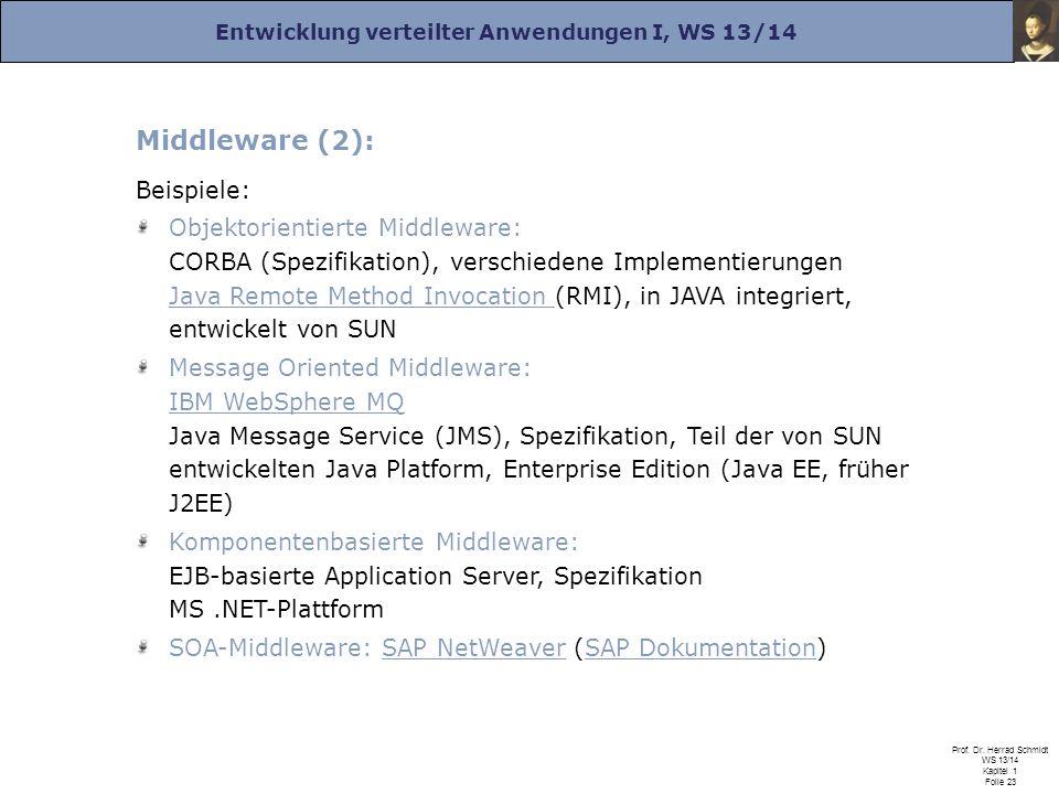 Middleware (2): Beispiele:
