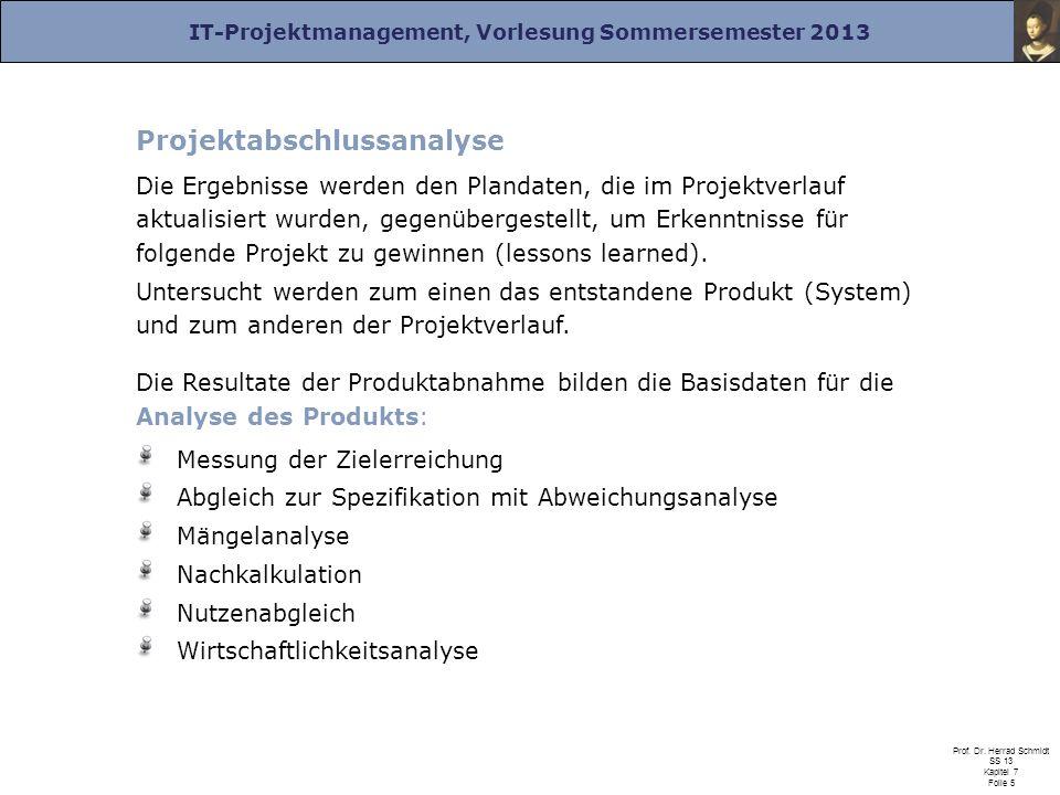 Projektabschlussanalyse