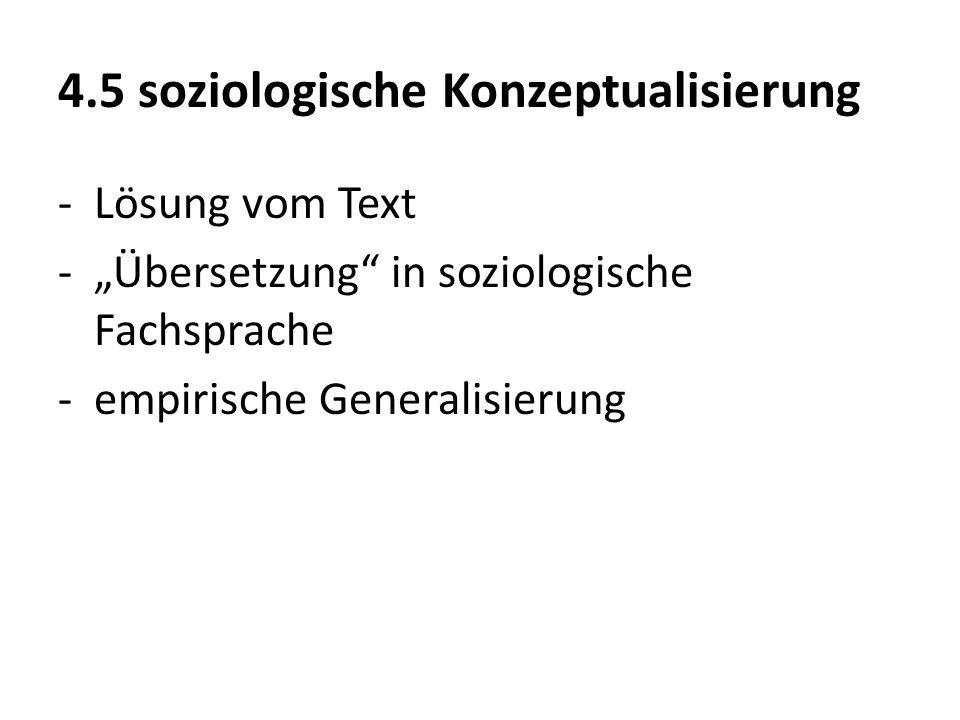 4.5 soziologische Konzeptualisierung