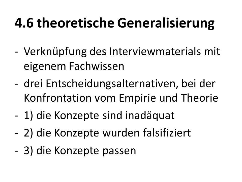 4.6 theoretische Generalisierung